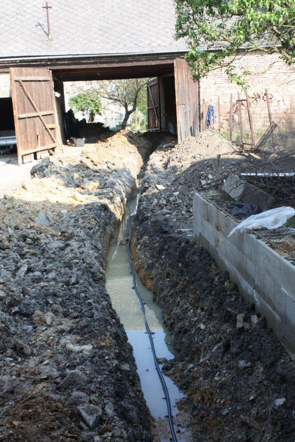 kopání vodovodu